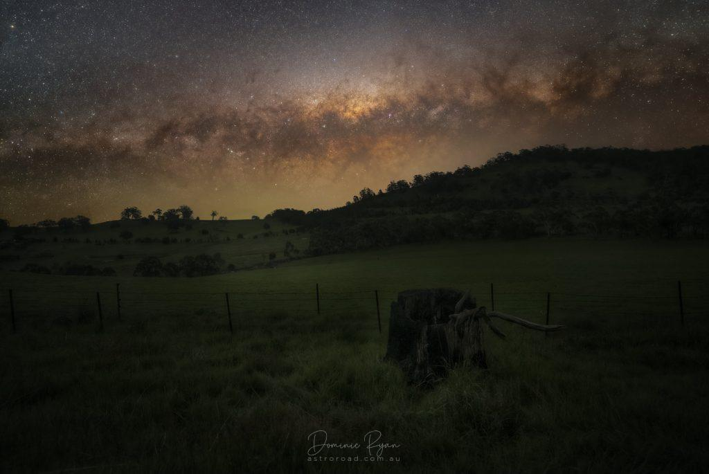 The Setting Milky Way